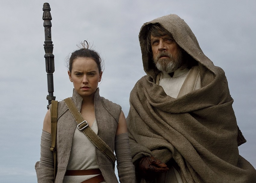 Rey and Luke