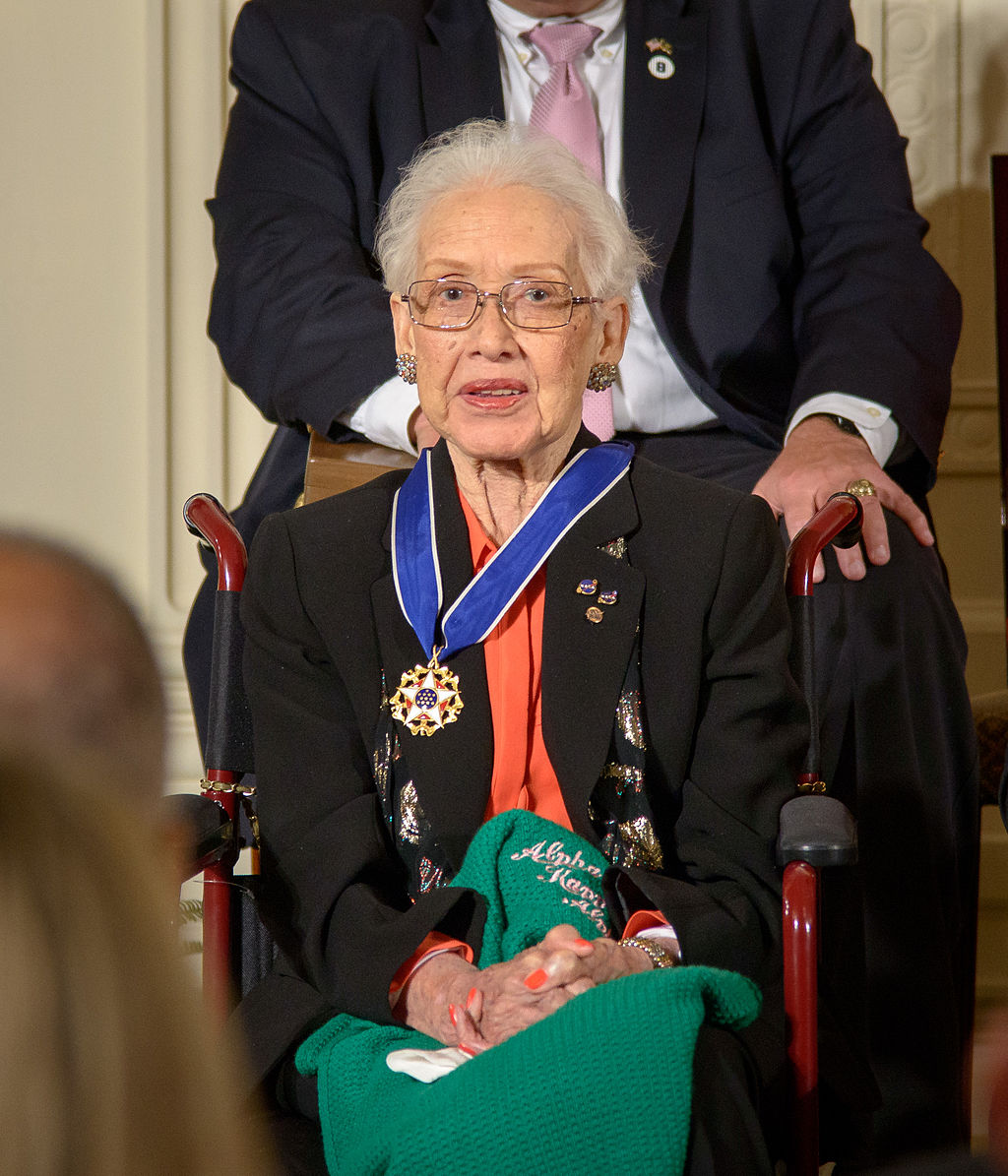 Katherine Johnson after receiving the Medal of Freedom
